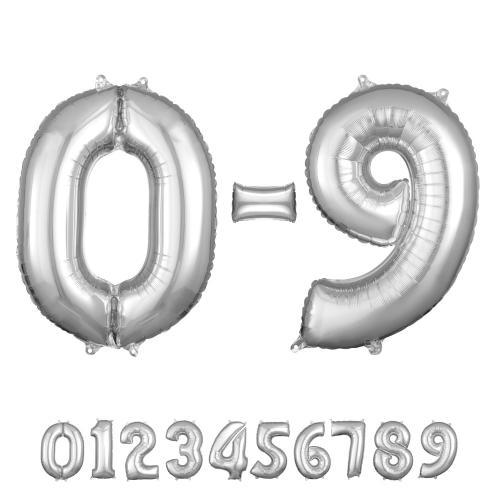 """26"""" (66 cm) Siffror Silver"""