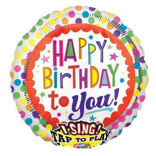 "28"" (71 cm) Sing-A-Tune Happy Birthday prickar"