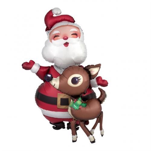 """48"""" (121 cm) Tomten och Rudolf"""