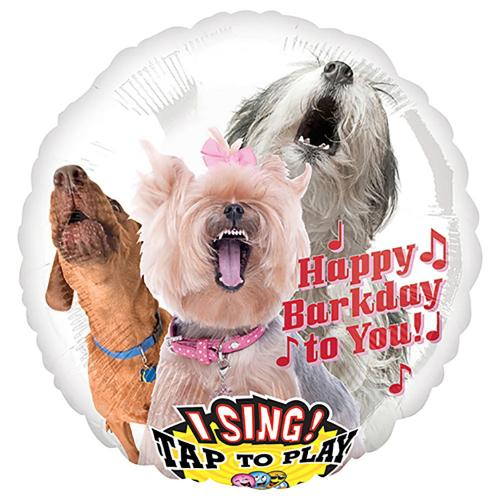 """28"""" (71 cm) Sing-A-Tune Happy Bark Day to You"""