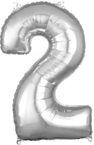 """26"""" (66 cm) Heliumfyllda Siffror Silver"""