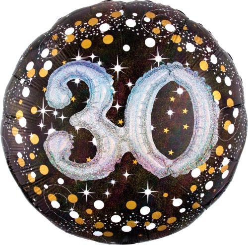 "36"" (90 cm) 30 Sparkling Birthday 3D"