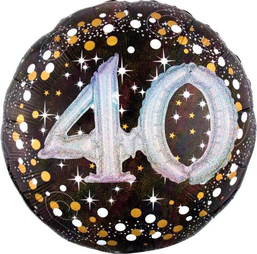 "36"" (90 cm) 40 Sparkling Birthday 3D"