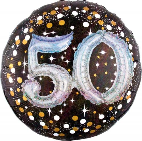"36"" (90 cm) 50 Sparkling Birthday 3D"