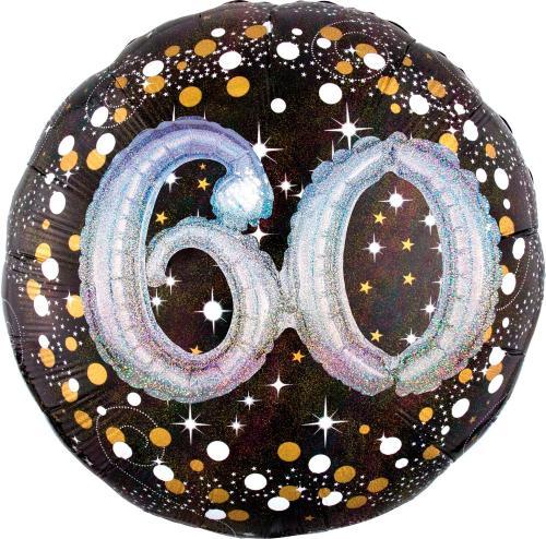 "36"" (90 cm) 60 Sparkling Birthday 3D"