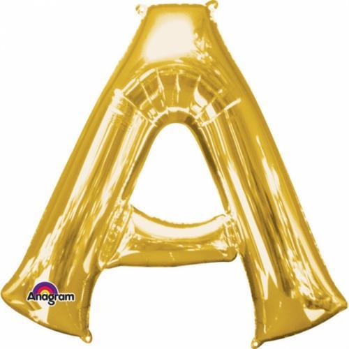 86 cm Bokstäver Guld