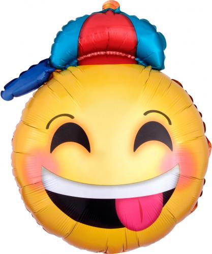 """20"""" (51 cm) Glad Emoji med hatt"""