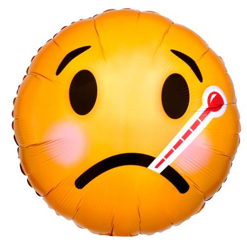 """17"""" (43 cm) Get well soon Emoticon"""