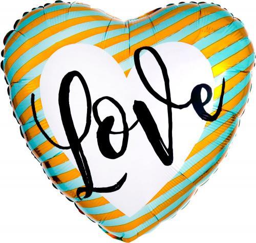 """17"""" (43 cm) Love Stripes"""