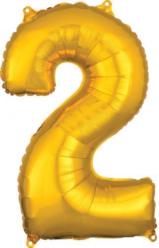 """26"""" (66 cm) Heliumfyllda Siffror Guld"""