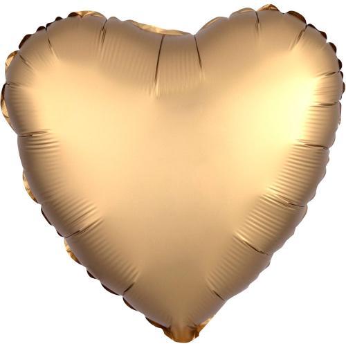 """17"""" (43 cm) Hjärta Satin Luxe Guld"""