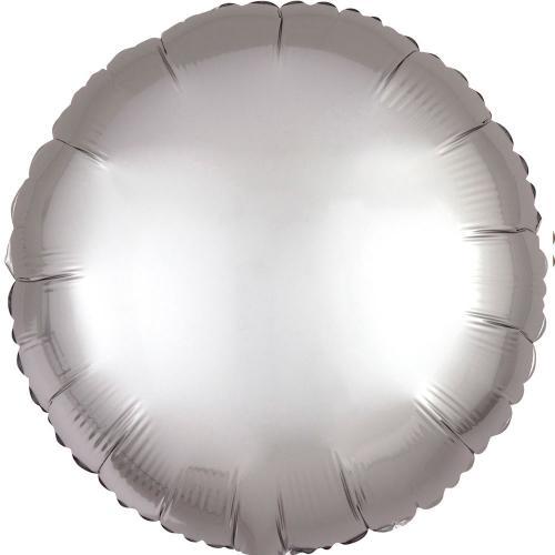 """17"""" (43 cm) Rund Satin Luxe Silver"""