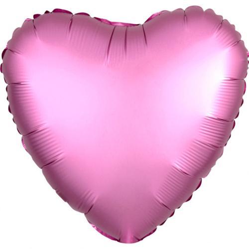 """17"""" (43 cm) Hjärta Satin Luxe Flamingo"""