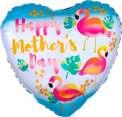 "17"" (43 cm) Happy Mothers Day Flamingo"