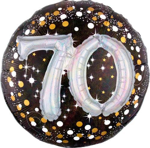 "36"" (90 cm) 70 Sparkling Birthday 3D"