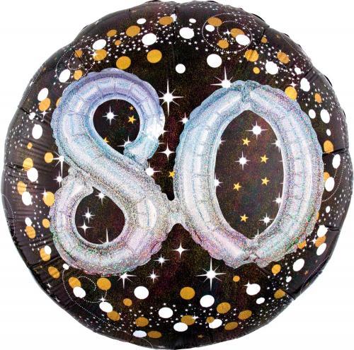 "36"" (90 cm) 80 Sparkling Birthday 3D"