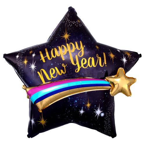 "28"" (71 cm) Happy New Year Shooting Star"