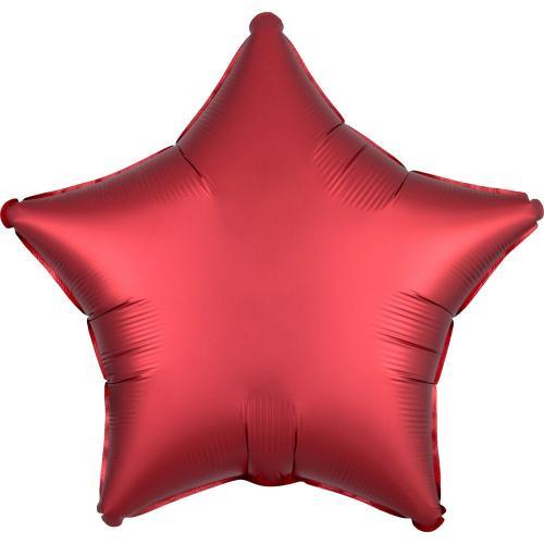 """19"""" (48 cm) Stjärna  Satin Luxe Sangria"""