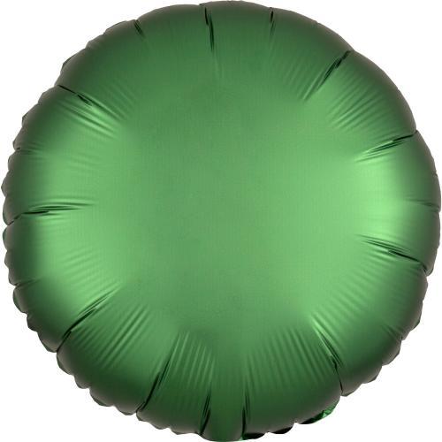 """17"""" (43 cm) Rund Satin Luxe Emeraldgrön"""