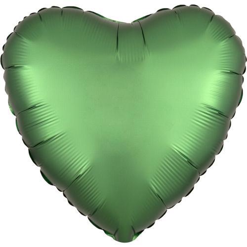 """17"""" (43 cm) Hjärta Satin Luxe Emeraldgrön"""