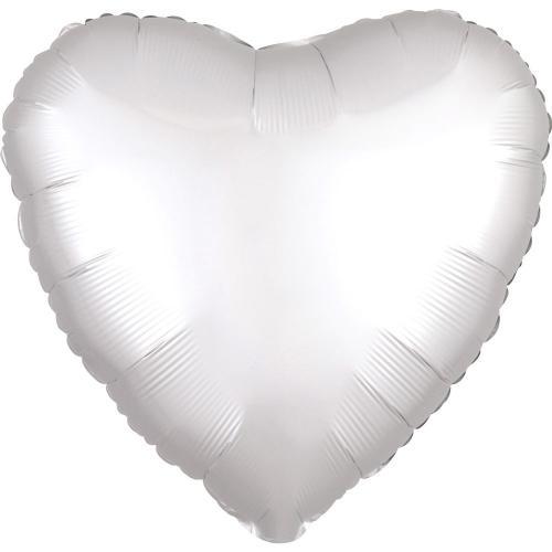 """17"""" (43 cm) Hjärta Satin Luxe Vit"""