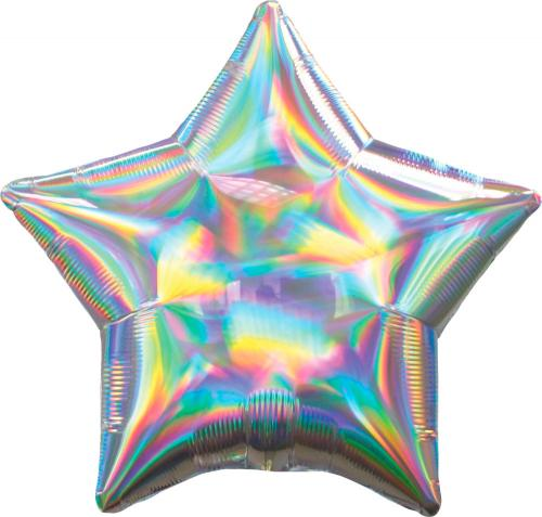 """22"""" (55 cm) Stjärna Holografisk Silver"""