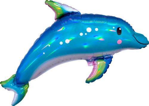 """27"""" (68 cm) Holografisk Delfin"""