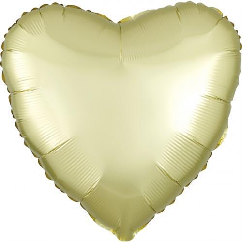 """17"""" (43 cm) Hjärta Satin Luxe Pastellgul"""