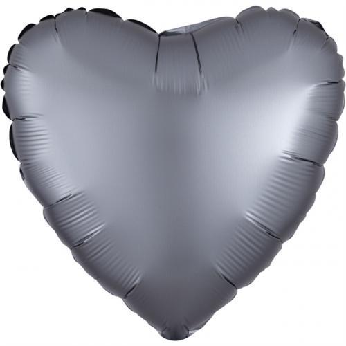 """17"""" (43 cm) Hjärta Satin Luxe Graphit"""