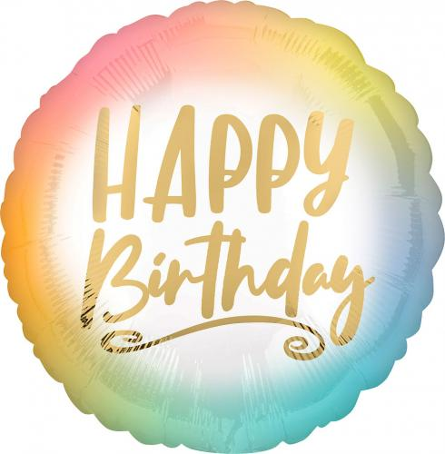 """17"""" (43 cm) Happy Birthday Ombré"""