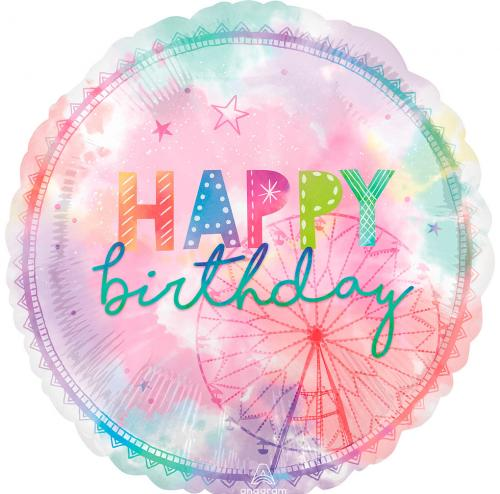 "28"" (71 cm) Happy Birthday Pastell"
