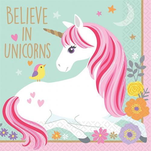 Små servetter Magical Unicorn