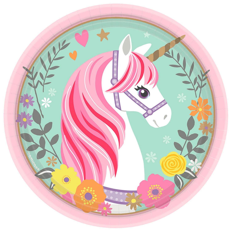 Pappersassiett Magical Unicorn