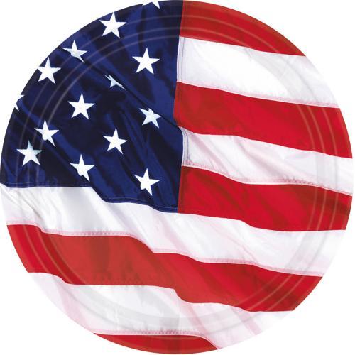 Papperstallrik, USA 18 cm