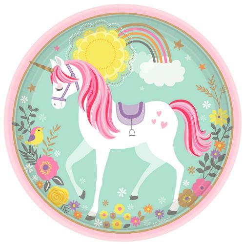 Papperstallrik Magical Unicorn