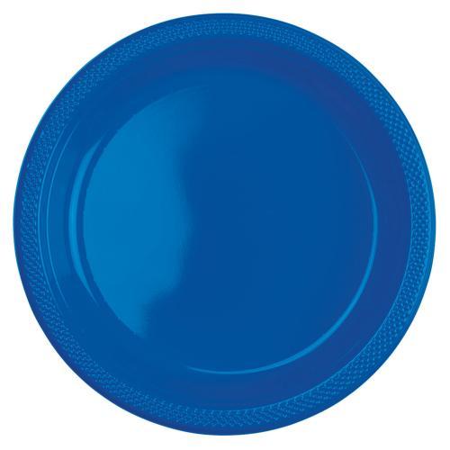 Plasttallrik, blå 22,8 cm