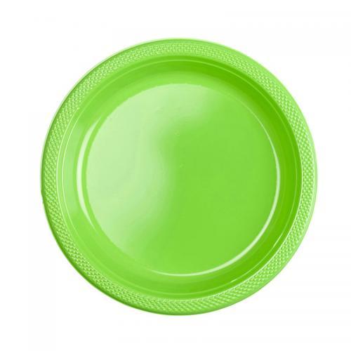 Plasttallrik, limegrön 22,8 cm