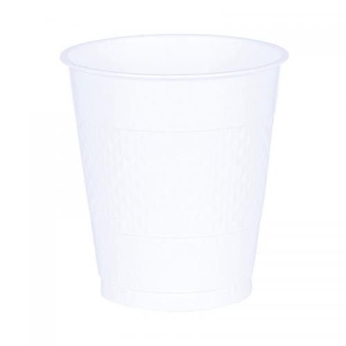 Plastmugg, vit, 355 ml