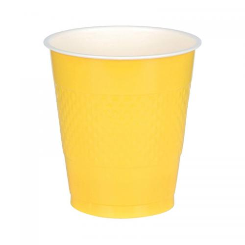Plastmugg, gul, 355 ml