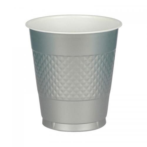 Plastmugg, silver, 355 ml
