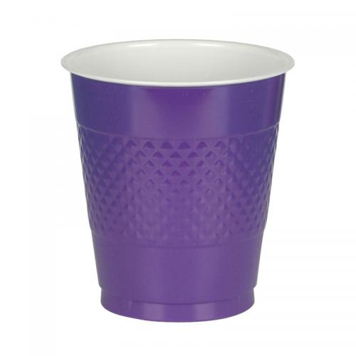 Plastmugg, lila, 355 ml