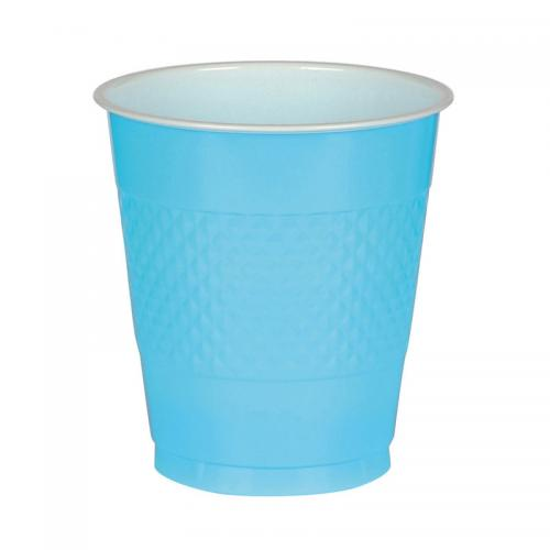 Plastmugg, turkos, 355 ml
