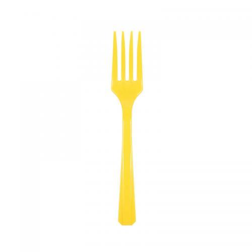 Plastgaffel, gul