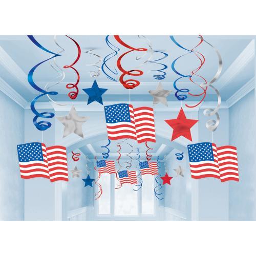 Swirls USA-flagga