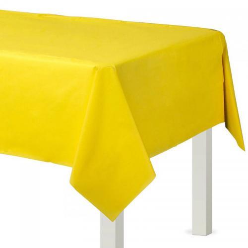 Bordsduk i plast, gul, 137x274 cm