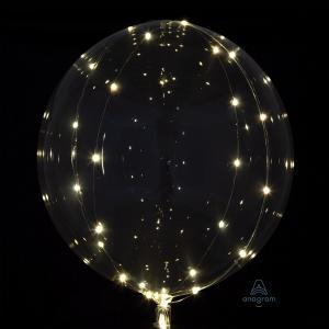 """18"""" (46 cm) Clearz Transparent med LED"""