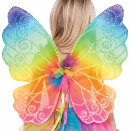 Fjärilsvingar Regnbågsfärger