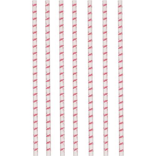 12 Paper Straws Flamingo Paradise