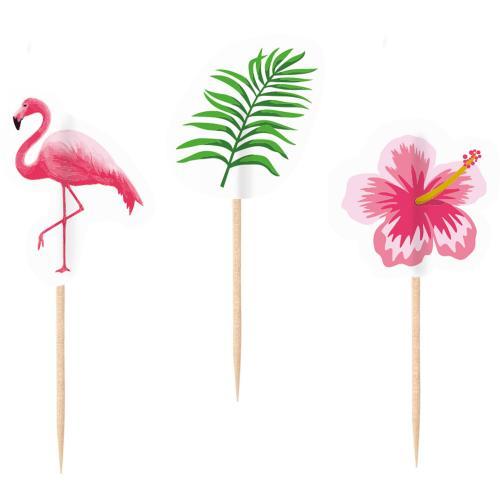 20 Tandpetare Flamingo Paradise