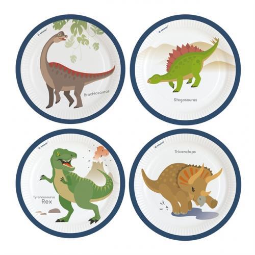 Papperstallrik Happy Dinosaur
